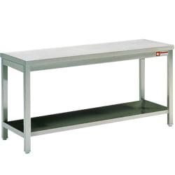 Rustfri Stålbord 700 mm med underhylde - fuldt svejset - længder 500 - 2900 mm