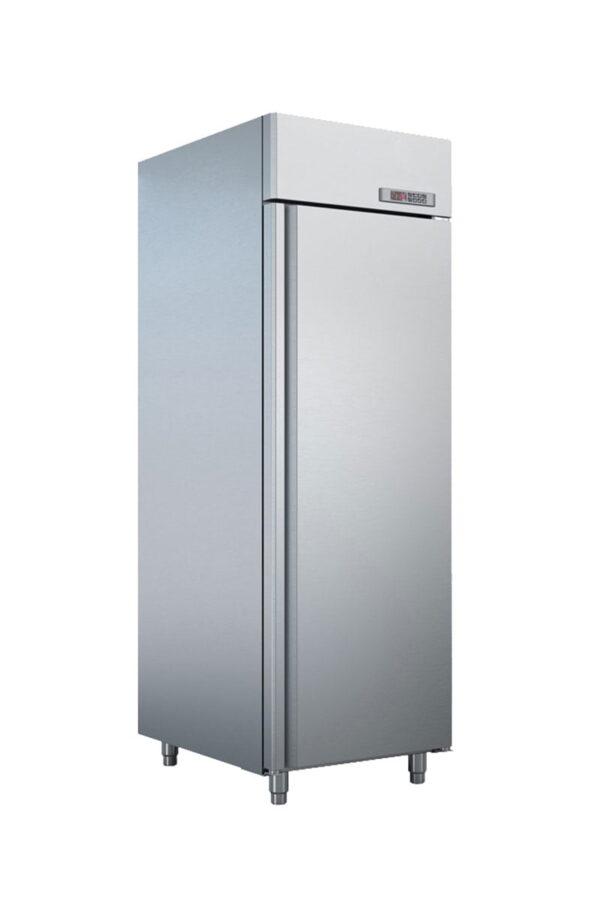 Enkelt køleskab fra Bambas i høj kvalitet, afrundede hjørner og tåler høje omgivelses temperaturer