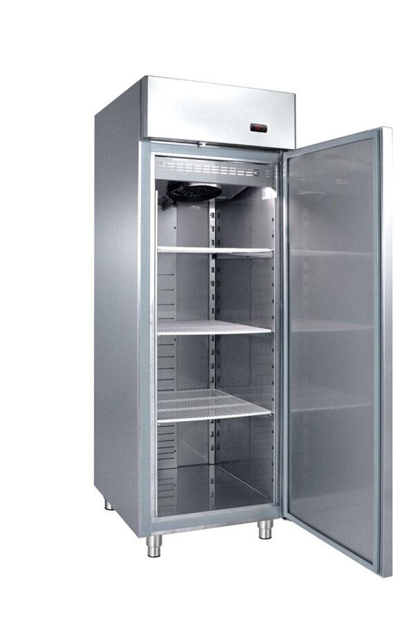 Enkelt køleskab fra Bambas i høj kvalitet, selvlukkende dør og lys