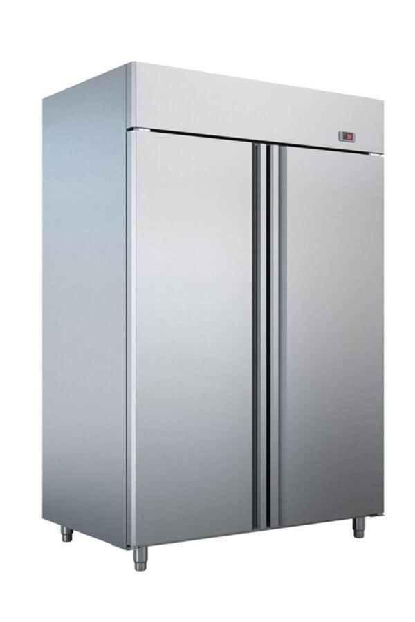 Dobbelt industrikøleskab fra Bambas i høj kvalitet, afrundede hjørner og tåler høje omgivelses temperaturer