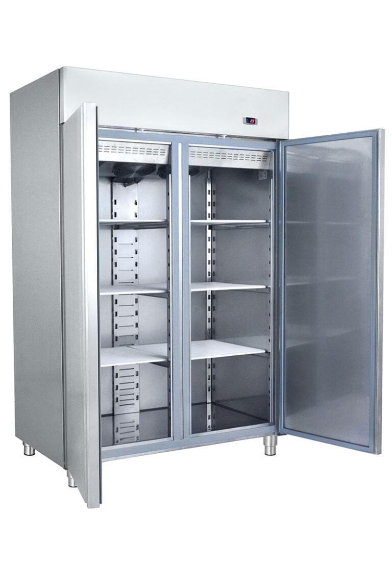 Dobbelt industrikøleskab fra Bambas i høj kvalitet, selvlukkende dør og lys