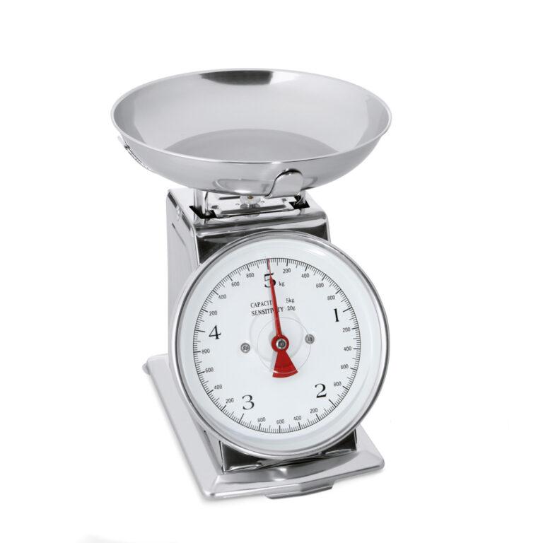 Vægt op til 5 kg, analog, op til 20 grams intervaller