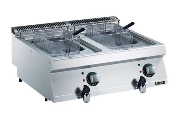 Zanussi enkelt GAS friture på 2 x7 liter - dobbelt bordmodel