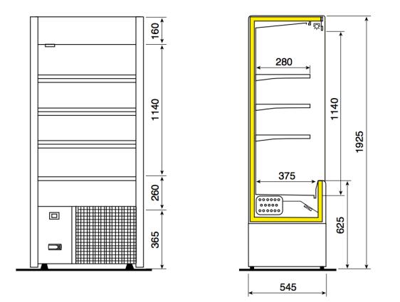 Small kølereol fra Zoin - ideel til mindre forretninger