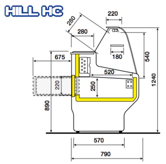 Hill køledisk - mål / dimensioner