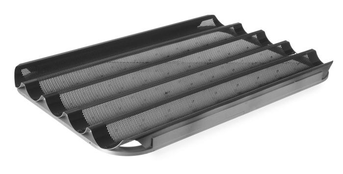 Perforeret bageplade til flutes i 40x60 cm - non-stick